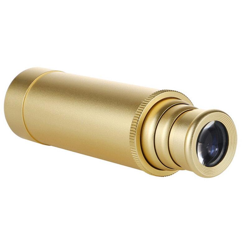 單孔海盜拉伸縮便攜微型單筒銅海盜望遠鏡高清高倍夜視加勒比復古