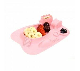 加拿大 MARCUS  MARCUS 動物樂園遊樂 餐盤-粉紅豬(粉)★愛兒麗婦幼用品★