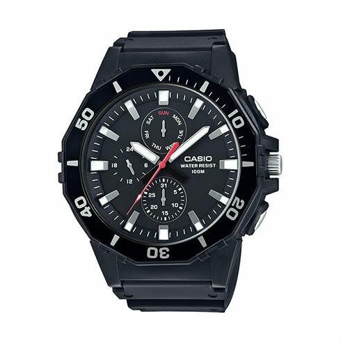 CASIOMRW-400H-1A大錶徑指針日期星期腕錶黑白53mm
