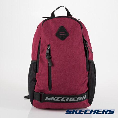 [陽光樂活] SKECHERS 雙拉鍊 透氣網布 耐用 酒紅 後背包 運動背包 - S37602【12/1-31 單筆滿2000結帳輸入序號 XmasGift-outdoor 再折↘250 | 單筆滿..