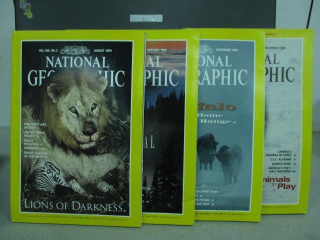 ~書寶 書T4/雜誌期刊_WDP~國家地理_1994  8^~12月間_4本合售_Lion