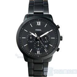 FOSSIL手錶 FS5474 計時 日期 夜光 IP黑鋼帶男錶全新正品【錶飾精品】