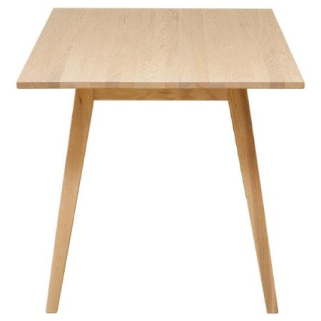 ◎(OUTLET)實木餐桌 ALAND140 白橡木 福利品 NITORI宜得利家居 2