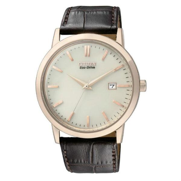 CITIZEN星辰錶BM7193-07B復古爵士簡約光動能腕錶40mm