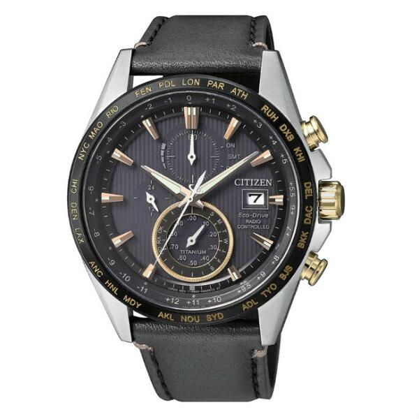 大高雄鐘錶城:CITIZEN星辰錶AT8158-14H高科技鈦金屬電波光動能腕錶黑面42mm
