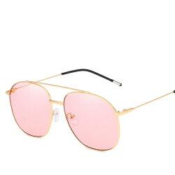 新款 潮流 金属 大框 太陽鏡 男士女士  方框 太陽眼鏡 多色炫彩 海洋片 墨鏡 淺色鏡