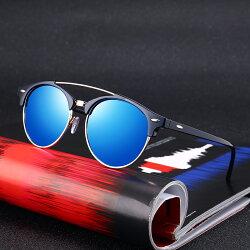 新品 男士女士 偏光 太陽鏡 復古 圓框 墨鏡 駕駛 夜視鏡 棕色 豹紋 藍色 墨綠 太陽眼鏡 UV400