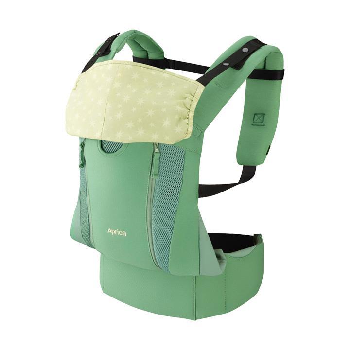 Aprica愛普力卡 - Colan Hug Nature 親膚舒適款 黃金比例分壓腰袋型揹巾 (綠野星) - 限時優惠好康折扣