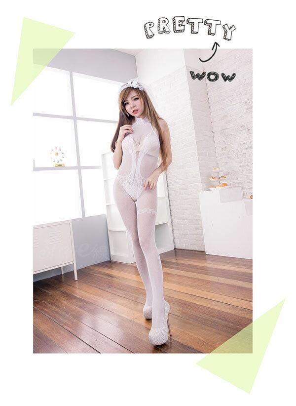 情趣內衣褲 性感削肩洞洞貓裝式性感內衣褲~流行E線B8011 3