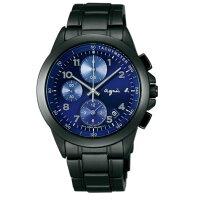 agnès b.到agnes b 7T92-0LY0A(BF8329P1)運動三眼時尚腕錶/藍面40mm