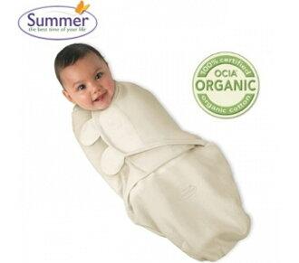 【寶貝樂園】美國Summer Infant SwaddleMe懶人包巾S 有機棉