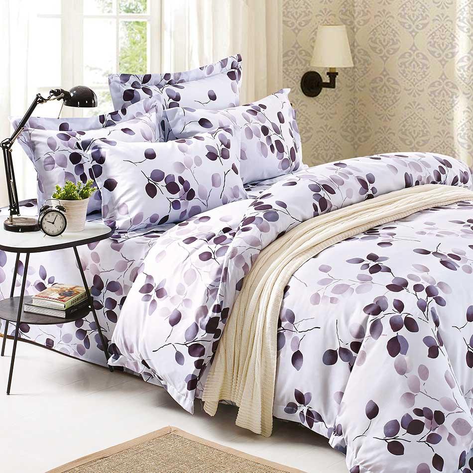 【秋紫落葉】天鵝絨輕柔棉床包組