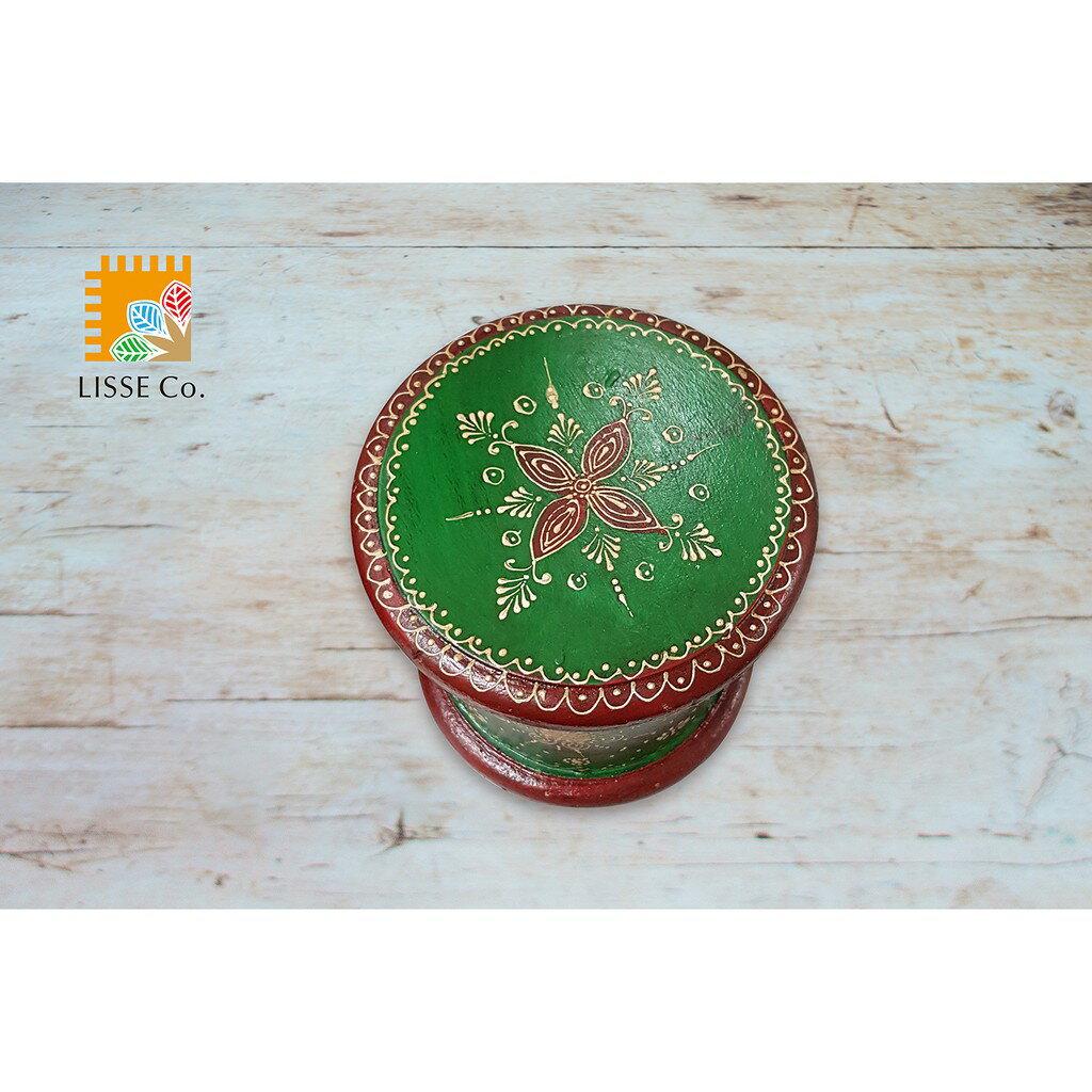 [綺異館] 印度手工木架 可置小擺飾 復古 純手工彩繪 MA750