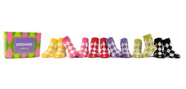 pregshop孕味小舖《美國Trumpette》嬰兒襪子6入-繽紛菱格