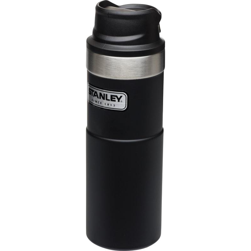 【【蘋果戶外】】Stanley 美國 10-06439 黑 經典按壓式單手保溫杯 16oz 咖啡杯隨行杯 1006439