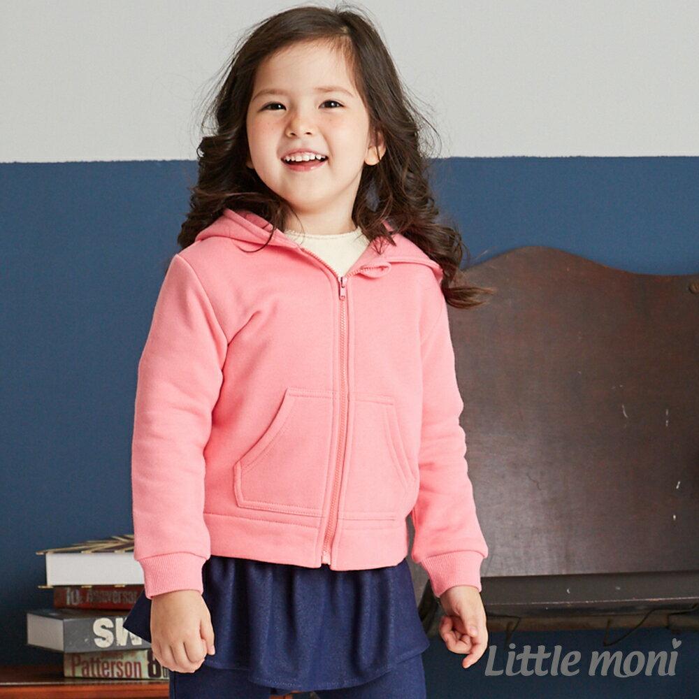 Little moni 造型連帽刷毛外套-粉紅(好窩生活節) 1