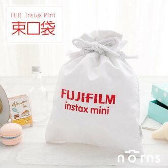 NORNS 【白色Fujifilm束口袋】富士Mini 7S 8 25 50S 拍立得相機保護袋相機包束口袋