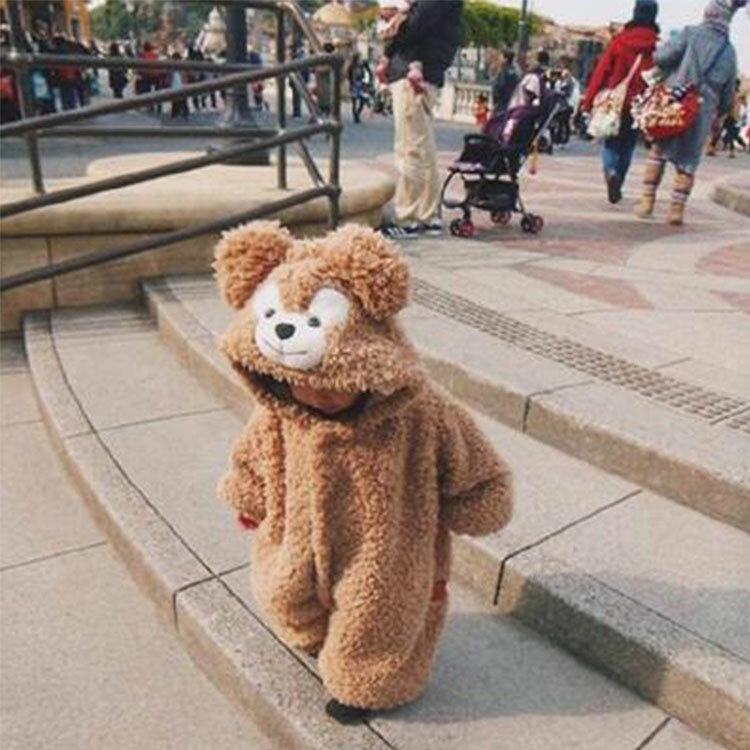葉子小舖】超可愛小熊造型居家服/男女童裝/嬰幼兒外套/嬰兒服飾/保暖抗寒/舒適柔軟/可愛睡衣/連身套裝