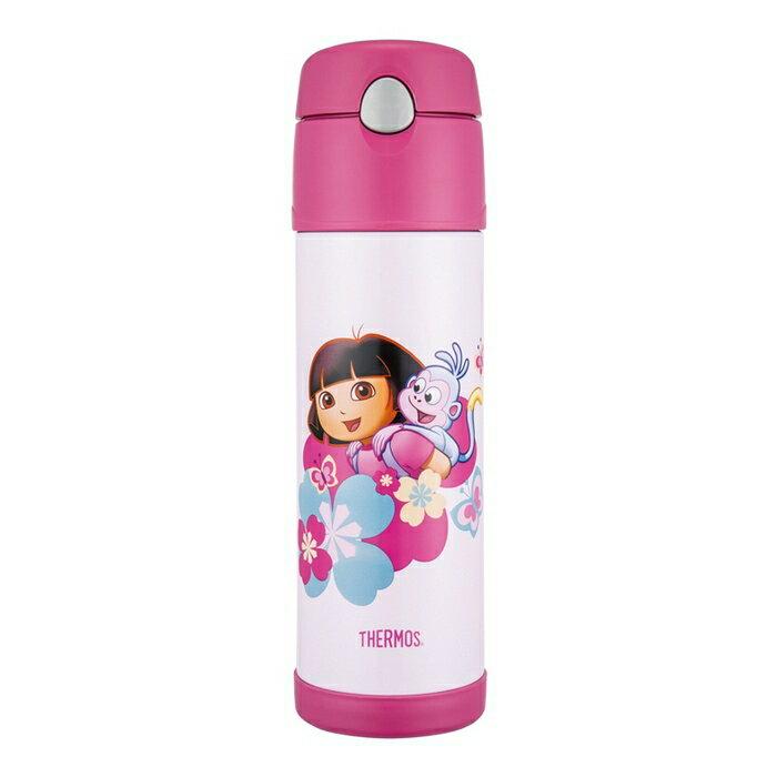 THERMOS 膳魔師 530ml 鏽鋼真空保冷瓶 DORA 朵拉 HS4010DR-PK