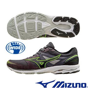 J1GA163609(黑X綠X黑)提升速度訓練!WAVE AERO 15 WIDE 男寬楦慢跑鞋 A【美津濃MIZUNO】
