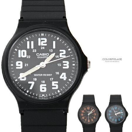 CASIO卡西歐 簡約清晰數字夜光指針石英手錶 輕巧中性款腕錶 柒彩年代【NE1859】原廠公司貨