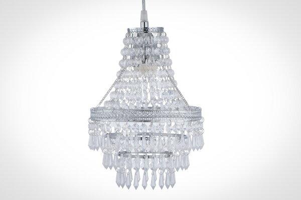 鍍鉻色華麗透明壓克力珠吊燈-BNL00022