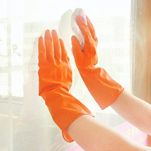 PS Mall 薄款洗碗洗衣手套 防滑橡膠手套【J1967】 2