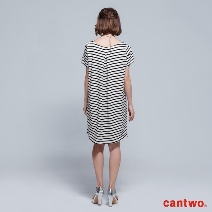 cantwo雙色條紋短袖洋裝(共三色) 3