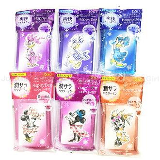 夏日 MANDOM 迪士尼 濕紙巾 米妮 黛西 乾爽潔膚濕紙巾 隨身包 全身用 12枚 美妝 日本製造進口 * JustGirl *