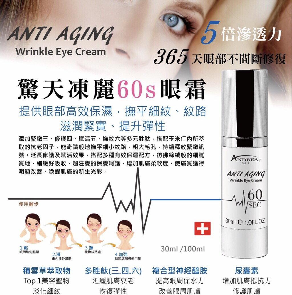 【BE BEAUTY】細紋/抗老 驚天凍麗眼霜 30ml ANTI AGING Wrinkle Eye Cream