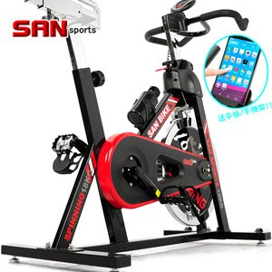 【SAN SPORTS 山司伯特】黑爵士18KG飛輪健身車(4倍強度.18公斤飛輪車.室內腳踏車.便宜.推薦) C165-018