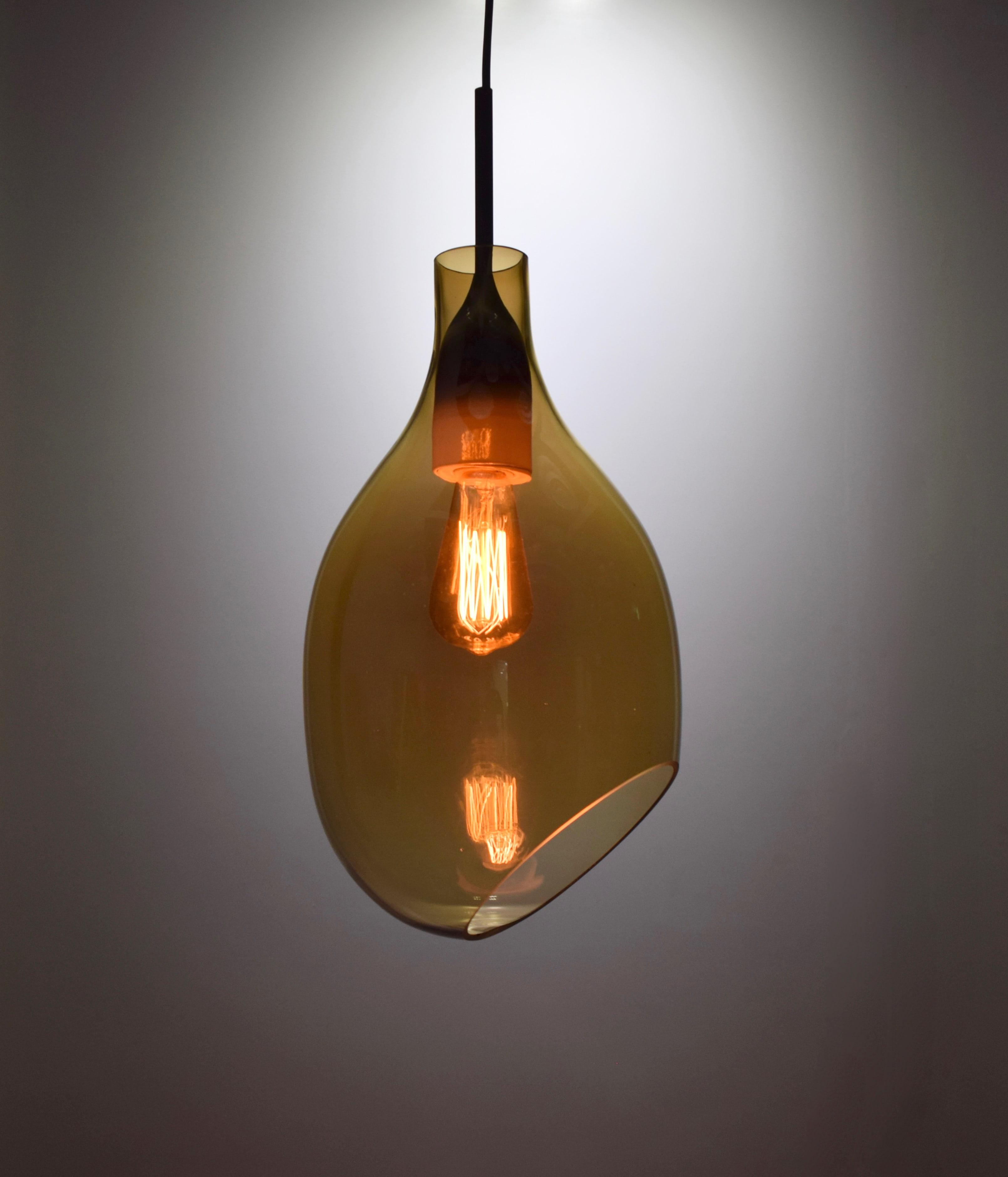 VESSEL 斜口玻璃琥珀色吊燈-BNL00126 0