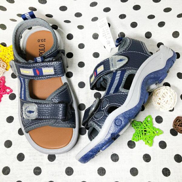 【限量優惠】大童男款女款可調式運動涼鞋[9266A]藍MIT台灣製造超值價$200