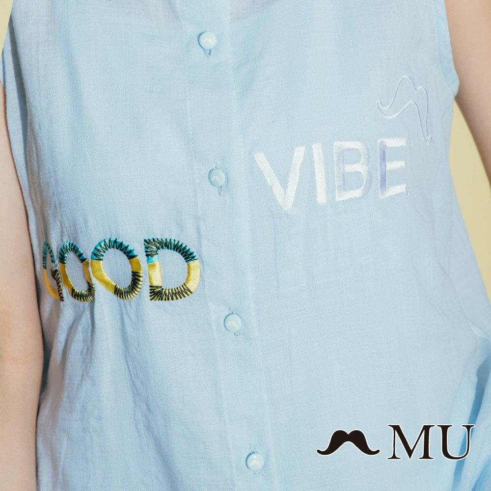 【MU】good vibe刺繡氣質無袖上衣 8323165 2