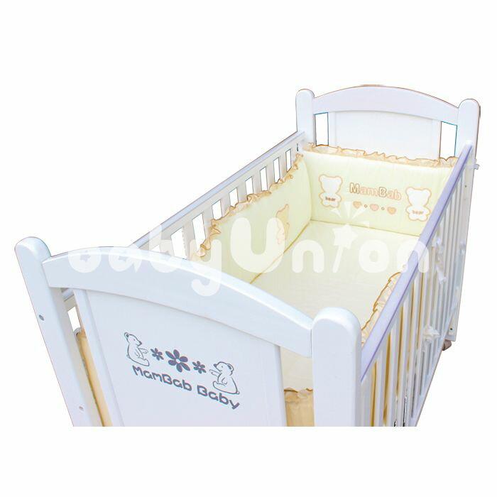 Mam Bab夢貝比 - 貝比熊純棉嬰兒床加高單護圈 -L (68x120cm大床適用) 4