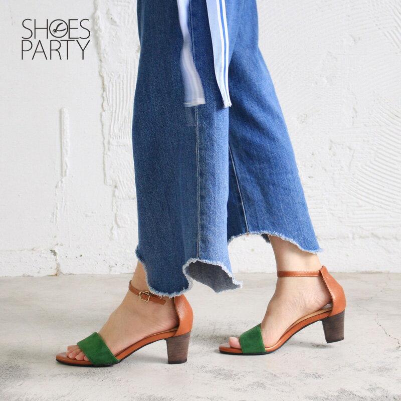 【S2-17613L】春夏必備簡約一字設計中跟涼鞋_Shoes Party 4