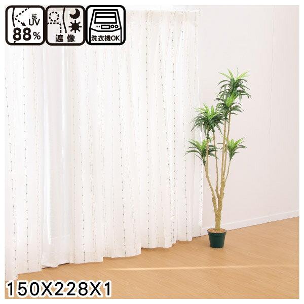 蕾絲窗簾 G CORAL YGR 150×228×1 NITORI宜得利家居 0