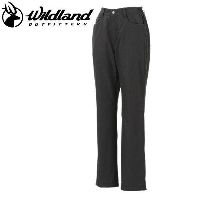 荒野 Wildland  防風褲休閒褲/保暖褲/滑雪/旅遊/ 女防風防潑水保暖長褲 W2301-54 黑色