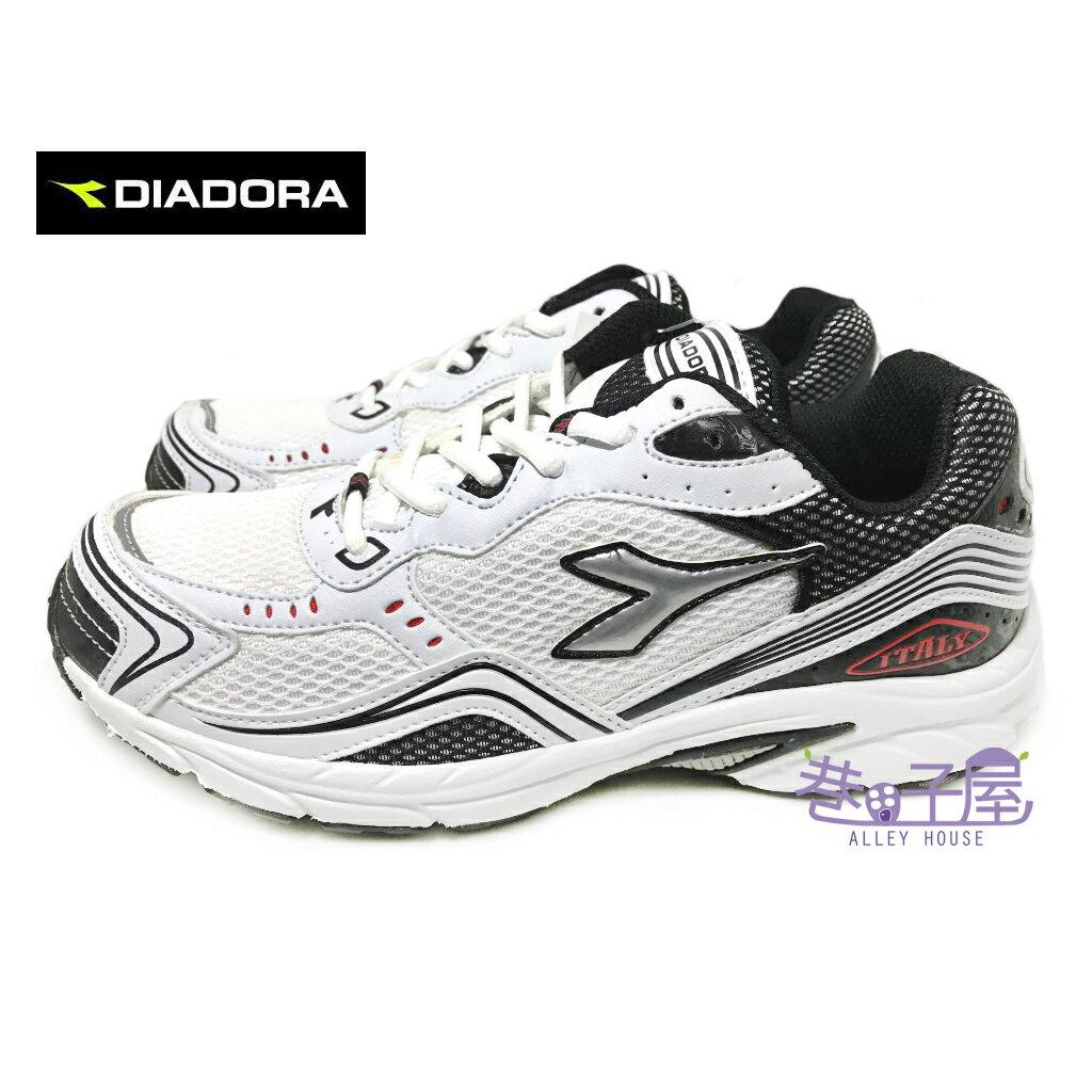 【巷子屋】義大利國寶鞋-DIADORA迪亞多納 男款四大機能寬楦超輕量運動慢跑鞋 [7369] 白黑 超值價$590