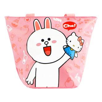 Hello Kitty+LINE兔兔餃型手提袋/便當袋(ML0249P)
