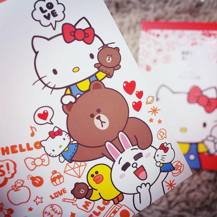 PGS7 三麗鷗系列商品 - Hello Kitty 凱蒂貓 x Line聯名 便條本 Memo 便條紙【SHQ61212】