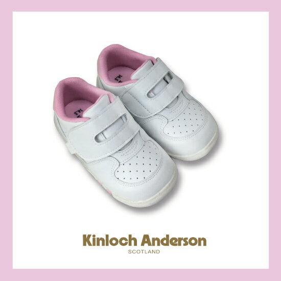 【金安德森】舒適機能學布鞋(白粉)