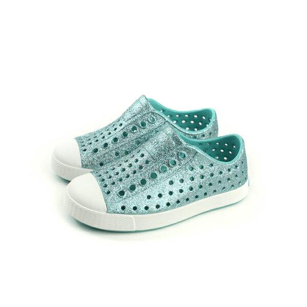 nativeJEFFERSONPRINT懶人鞋洞洞鞋綠色亮粉小童童鞋13100112-4337no713