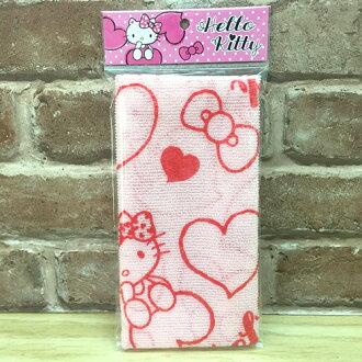 【真愛日本】 17051100016 沐浴巾-KT愛心紅 三麗鷗 kitty 凱蒂貓 洗澡巾 去角質 盥洗用品