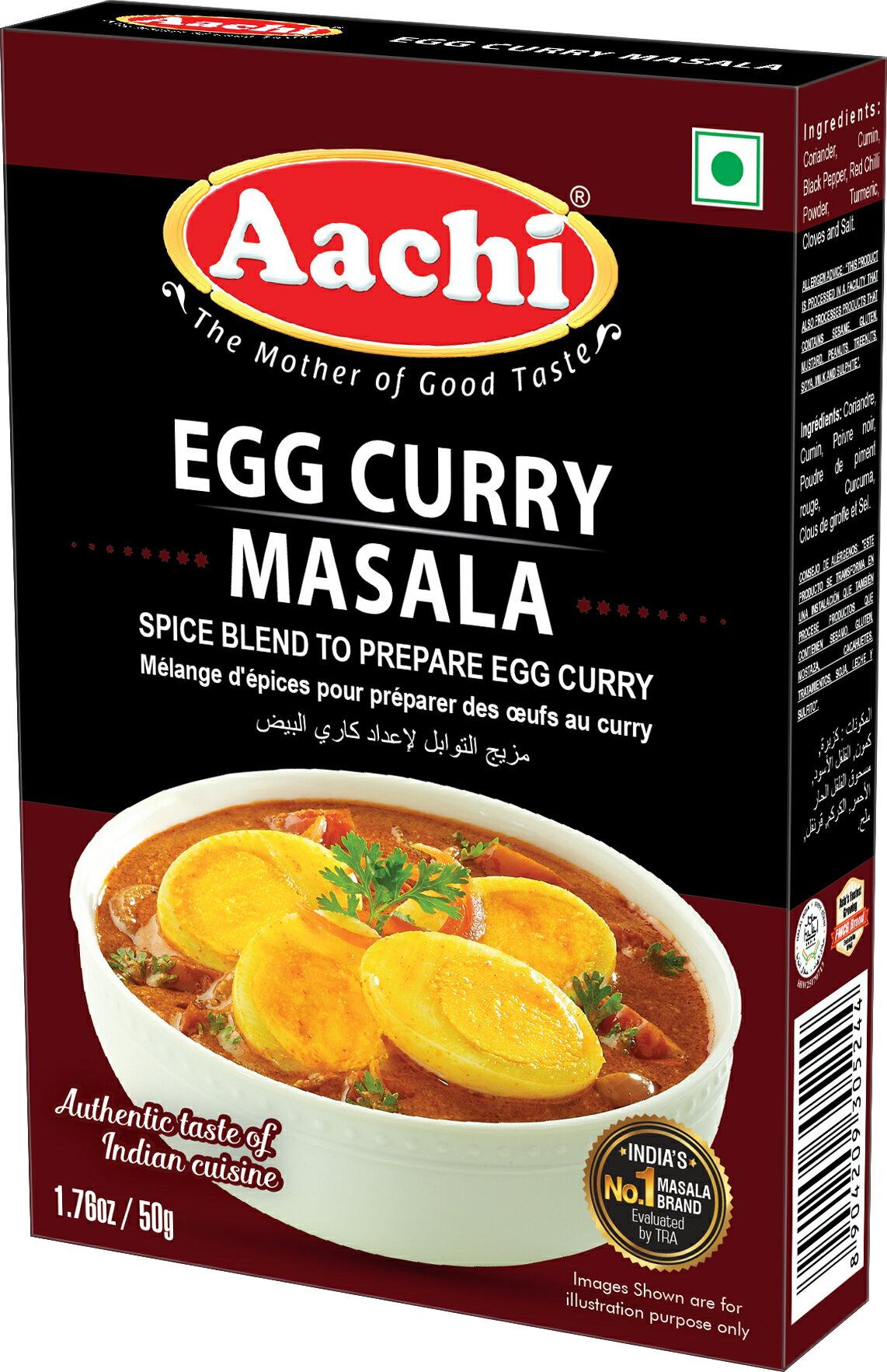 雞蛋咖哩粉  Egg Curry Masala AACHI 50gm