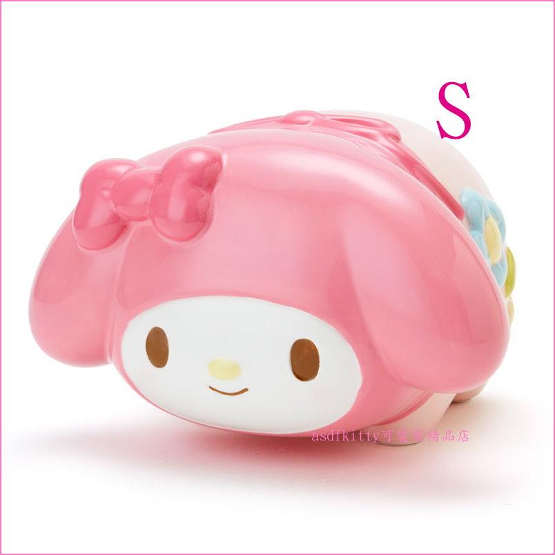 asdfkitty可愛家☆美樂蒂粉紅豬造型陶瓷存錢筒/撲滿/儲金箱-小-S-日本正版商品