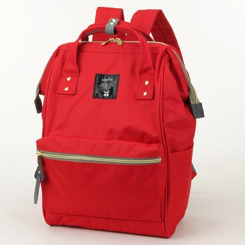 ANELLO 日本進口 anello 後背包~大紅色 容量大、開口大