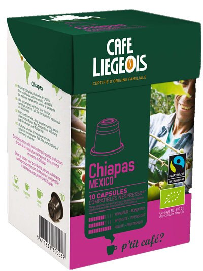 Liegeois 比利時 烈日咖啡膠囊~~ 恰帕斯 Chiapas  有機、公平貿易  N