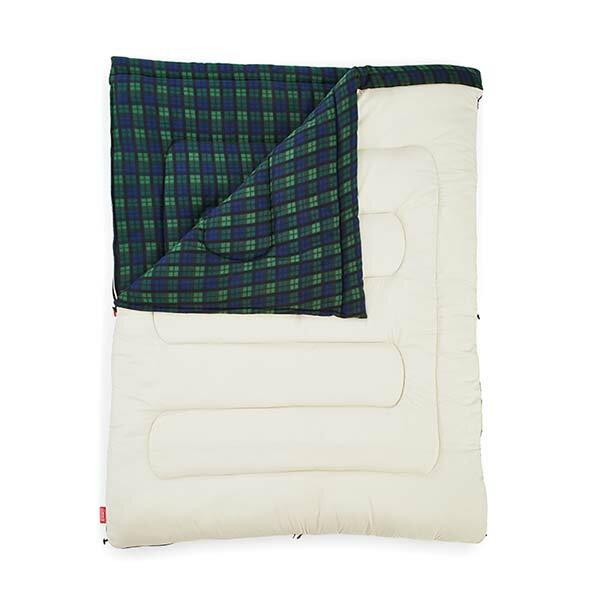 《台南悠活運動家》COLEMANCM-33804冒險者橄欖格紋刷毛睡袋C0