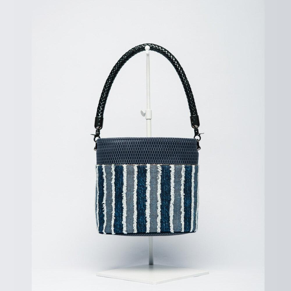 小水桶包-丹寧手提小水桶包/手做包(18.5x17x12cm)